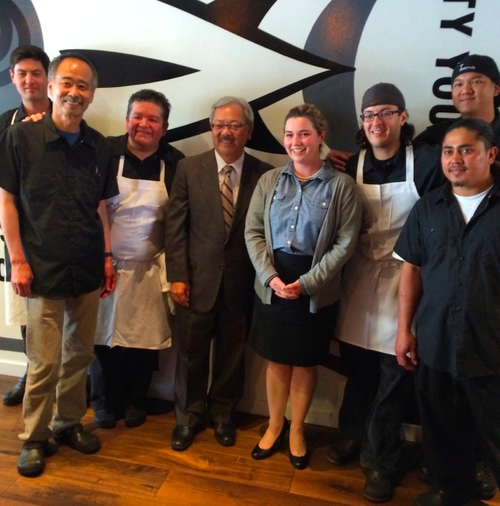 SF Examiner —Mayor Edwin M. Lee Awards ICHI Sushi + NI Bar: Small Businesses Shaping our City's Future