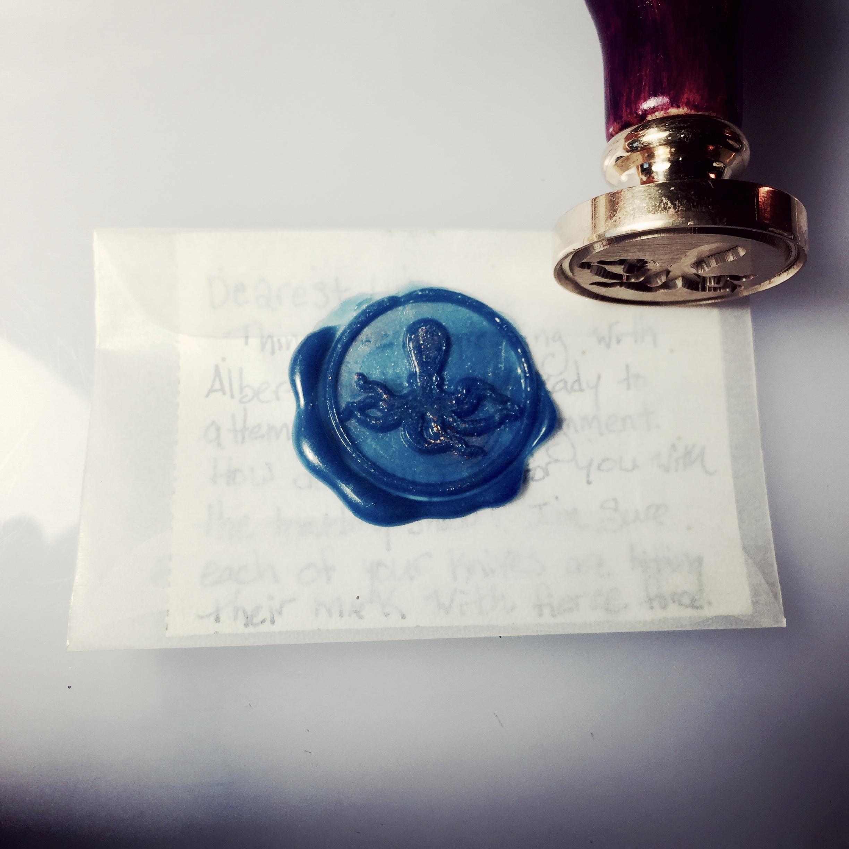 A wax seal