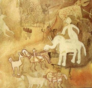 Middle Stone Age Ochre Cave Painting