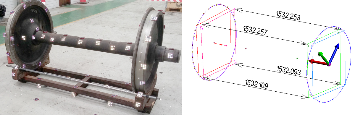 Wheel Set Calibration using Industrial Photogrammetry