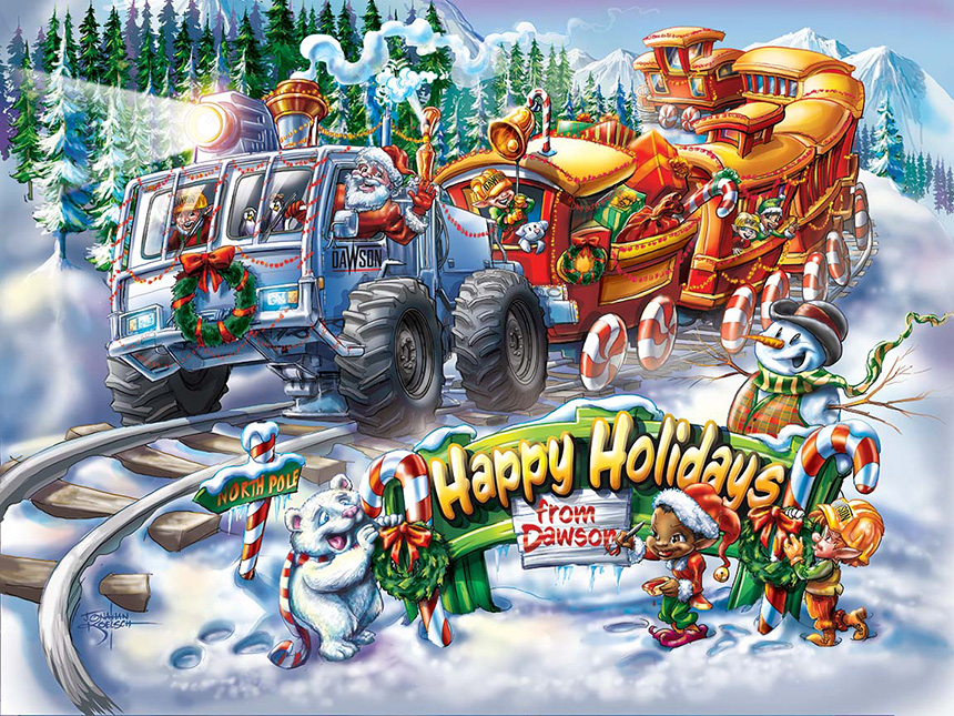 Dawson Christmas Train Client:  Dawson Geophysical  via MindsEye! Advertising   Medium:  Digital