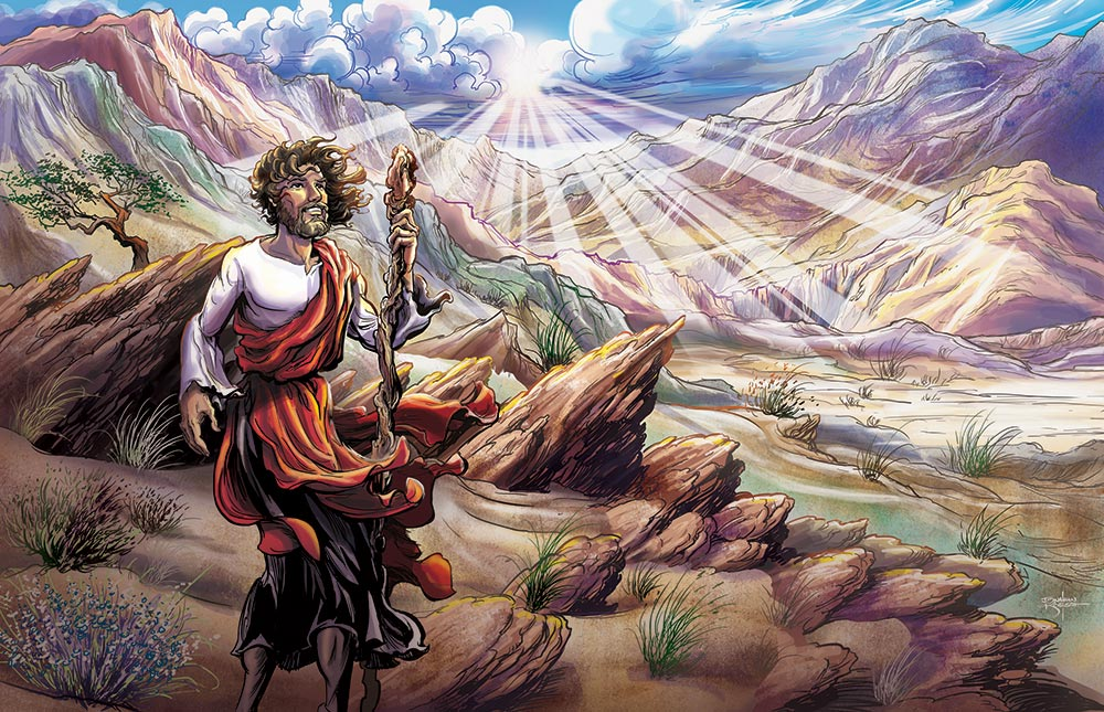 Jesus in the Desert   Client:  Gospel Light Publications  Medium:  Digital