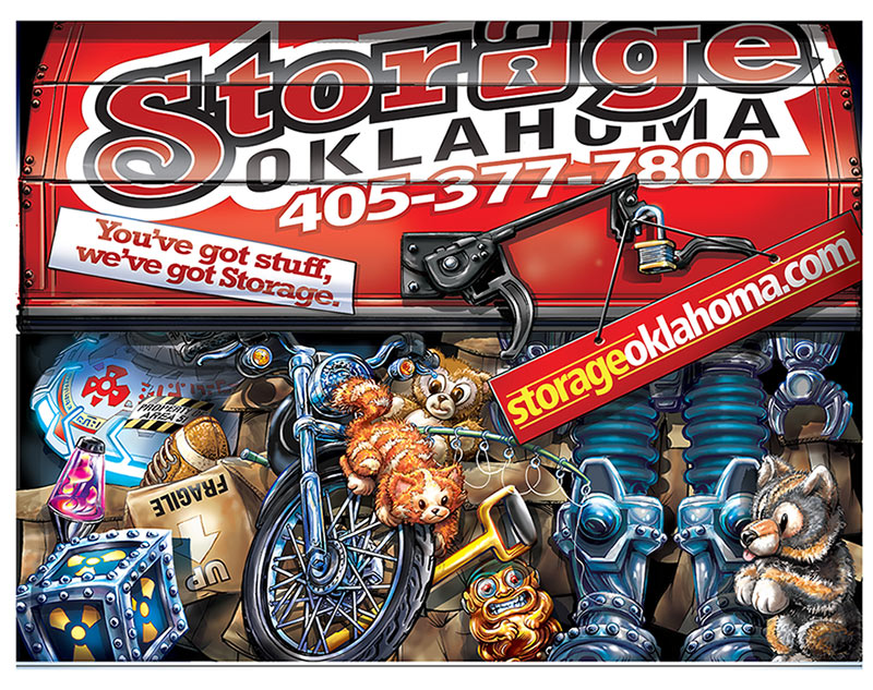 Moving Van Door Illustration  Client:  Storage Oklahoma  Medium:  Digital