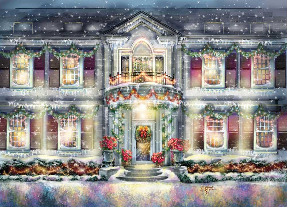 Oklahoma Governor's Mansion  –Governor's  Christmas Card   Client:  Governor Brad Henry  Medium:   Digital