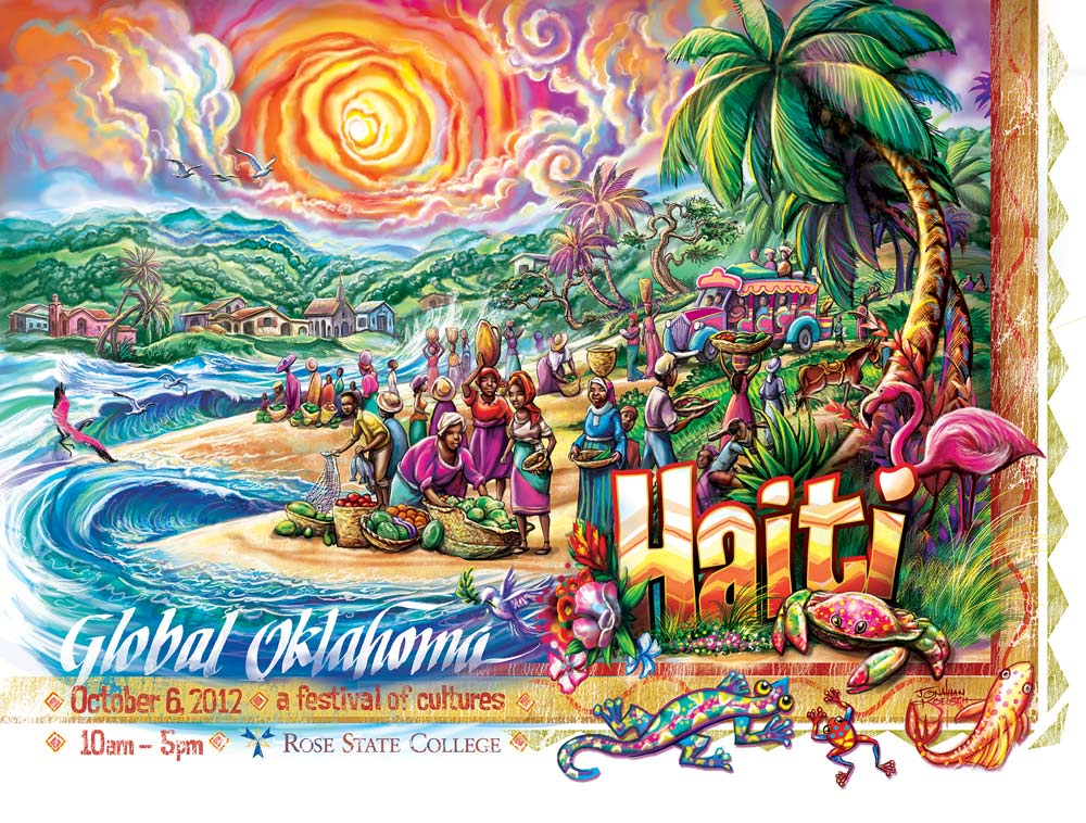 Haiti  - Global Oklahoma Poster   Client:  Rose State College  Medium:   Digital