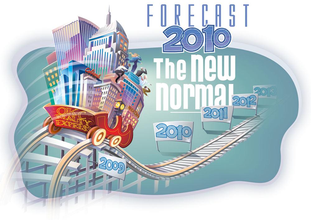 Forecast 2010 - The New Normal         Client:  CREC (Comm. Realtors) via Mindseye Advertising  Medium:   Vector Art (Adobe Illustrator)