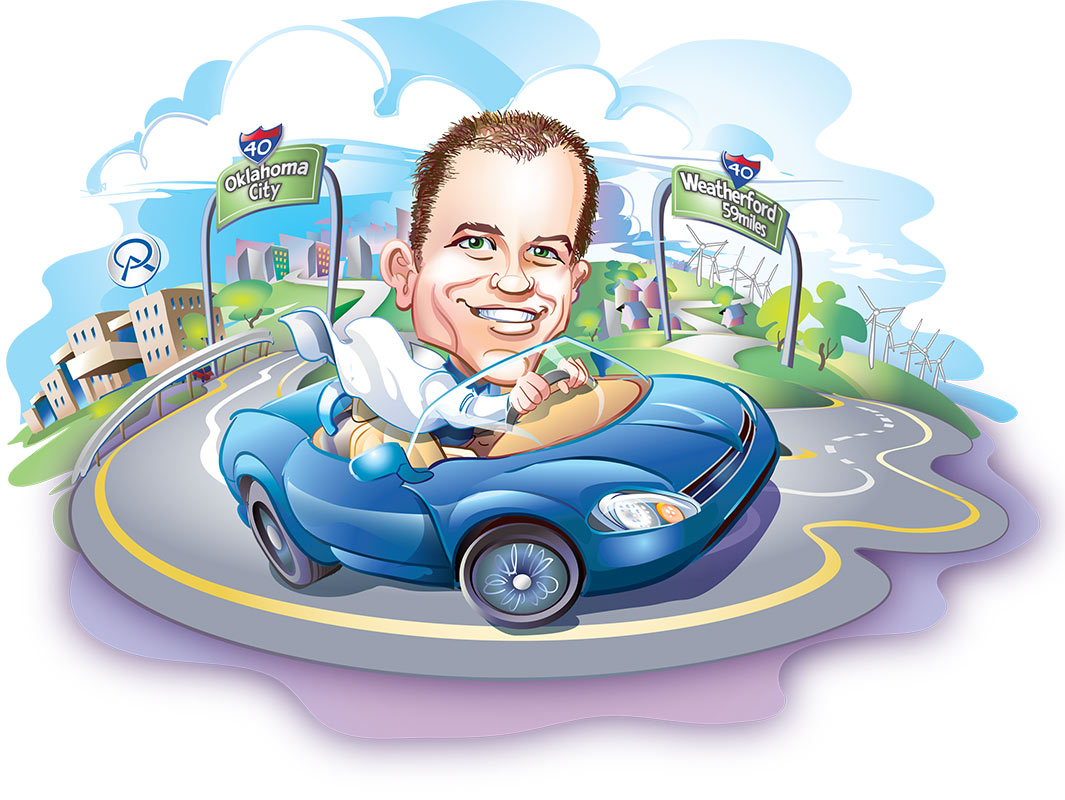 Dr. Keihn Caricature     Client:  Orthopedic Associates via Mindseye Advertising   Medium:   Vector Art (Adobe Illustrator)