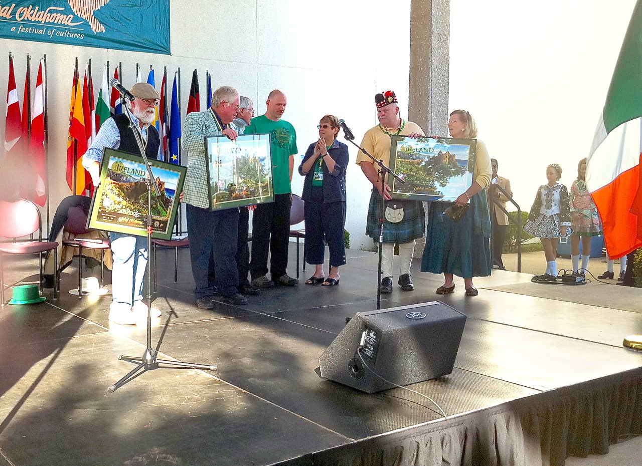 I'm often asked on stage at the opening Ceremony to present posters as gifts to key individuals. I'm the goofy guy in the green (my official T-Shirt design for the festival).