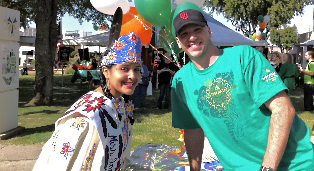 Myself and Miss Indian Lawton 2010. Also a clearer shot of the festival's T-Shirt I designed, worn by the Staff and also for sale.