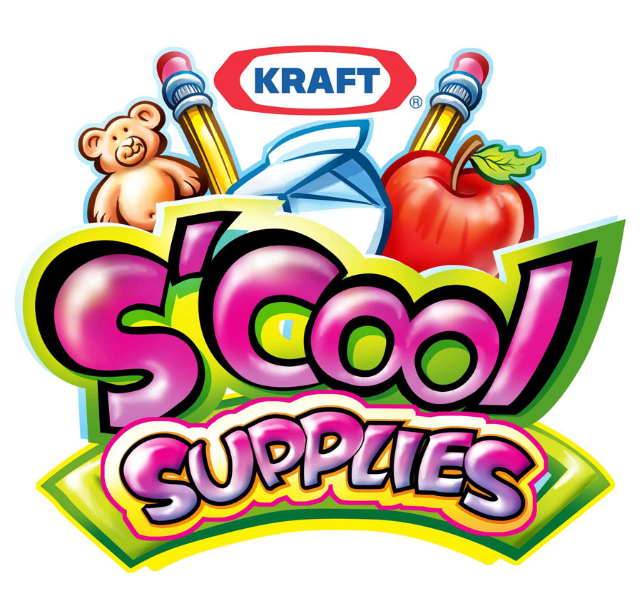 """Kraft """"S'Cool Supplies"""" Icon  A kid-focused icon, for application in a Kraft program  Client: Kraft Foods via The Food Group   Medium: Digital"""