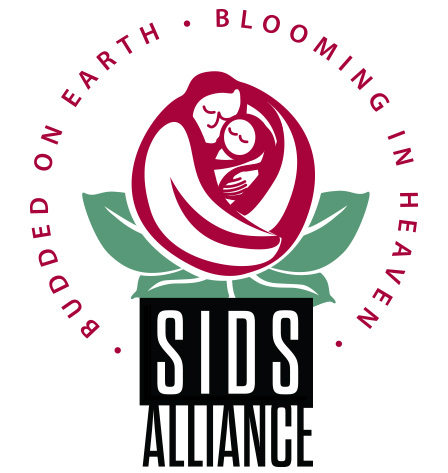 SIDS Alliance Logo  The rosebud is a the most common element in SIDS advocacy, and also reflects the organization's tagline in a heartwarming way.  Client:  SIDS Alliance  Medium: Digital (Vector Art, Adobe Illustrator)