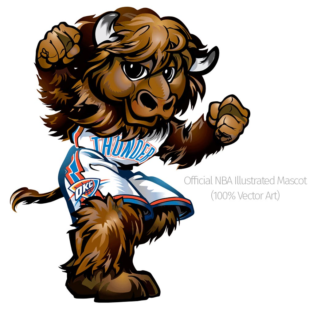 Rumble  - Official OKC Thunder Mascot Design