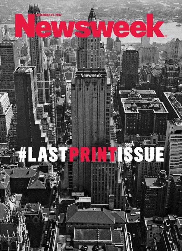 Newsweek's last printed issue.