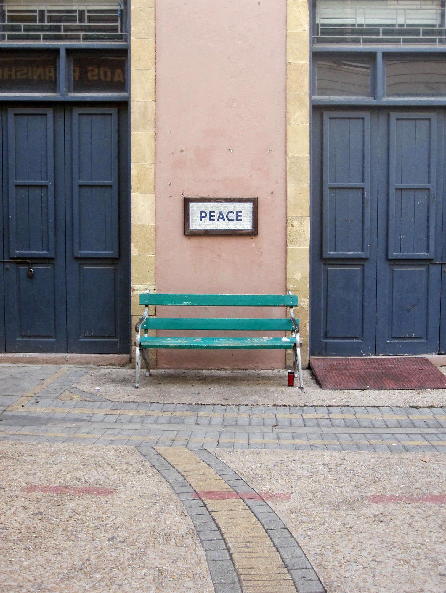Sign near Ledras st. crossing