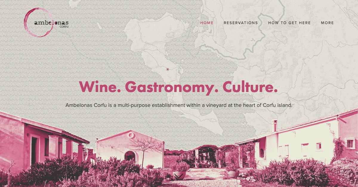 Ambelonas Corfu website