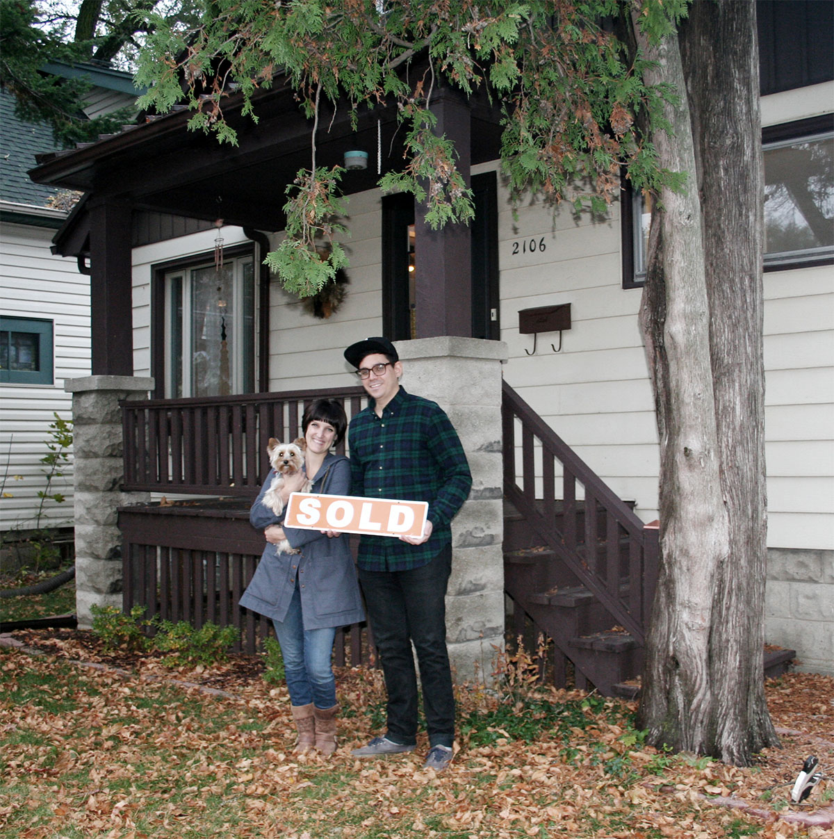 The day we sold our house.