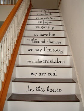 If the stairs and walls in your house could talk what would they say? How would they describe how your family unit rolls? It's a legit question. What would they say? . . .