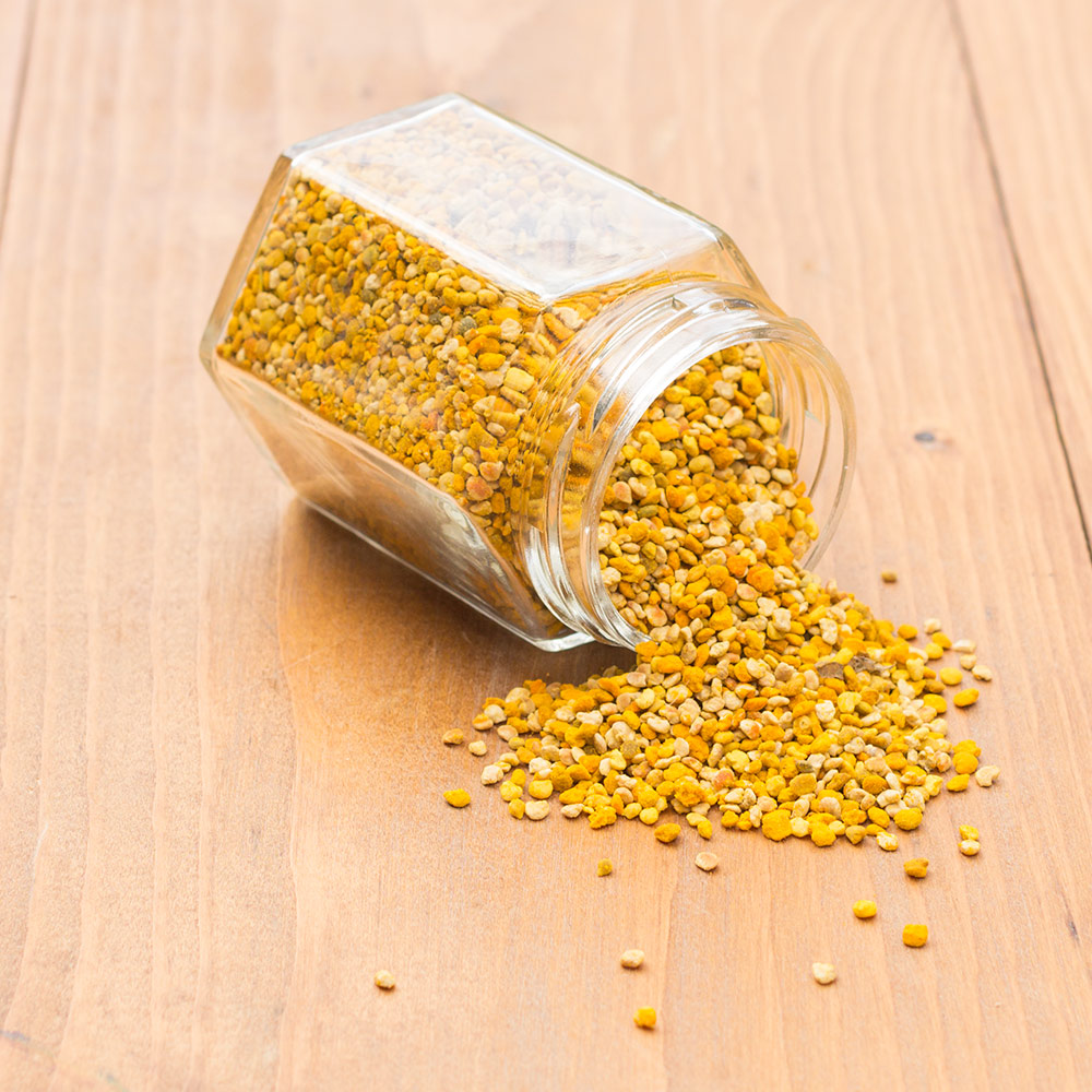 Pollen is a great superfood filled with amino acids, vitamins and minerals.