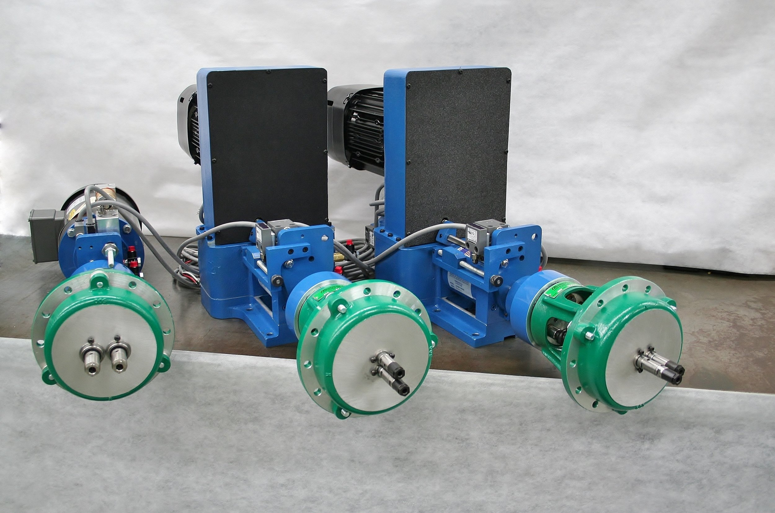 Twin-Spindle Drilling and Tapping Stations for Rotary Index Machine.