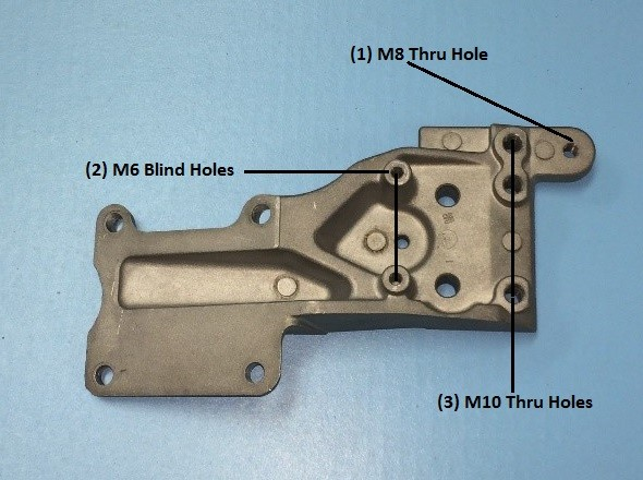 Aluminum Die Cast Bracket with Complex Hole Pattern