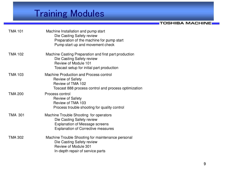Toshiba Training Classes
