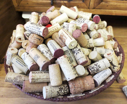 Step 1 - drink wine so you can collect corks. It's a hard job, but someone has to do it.