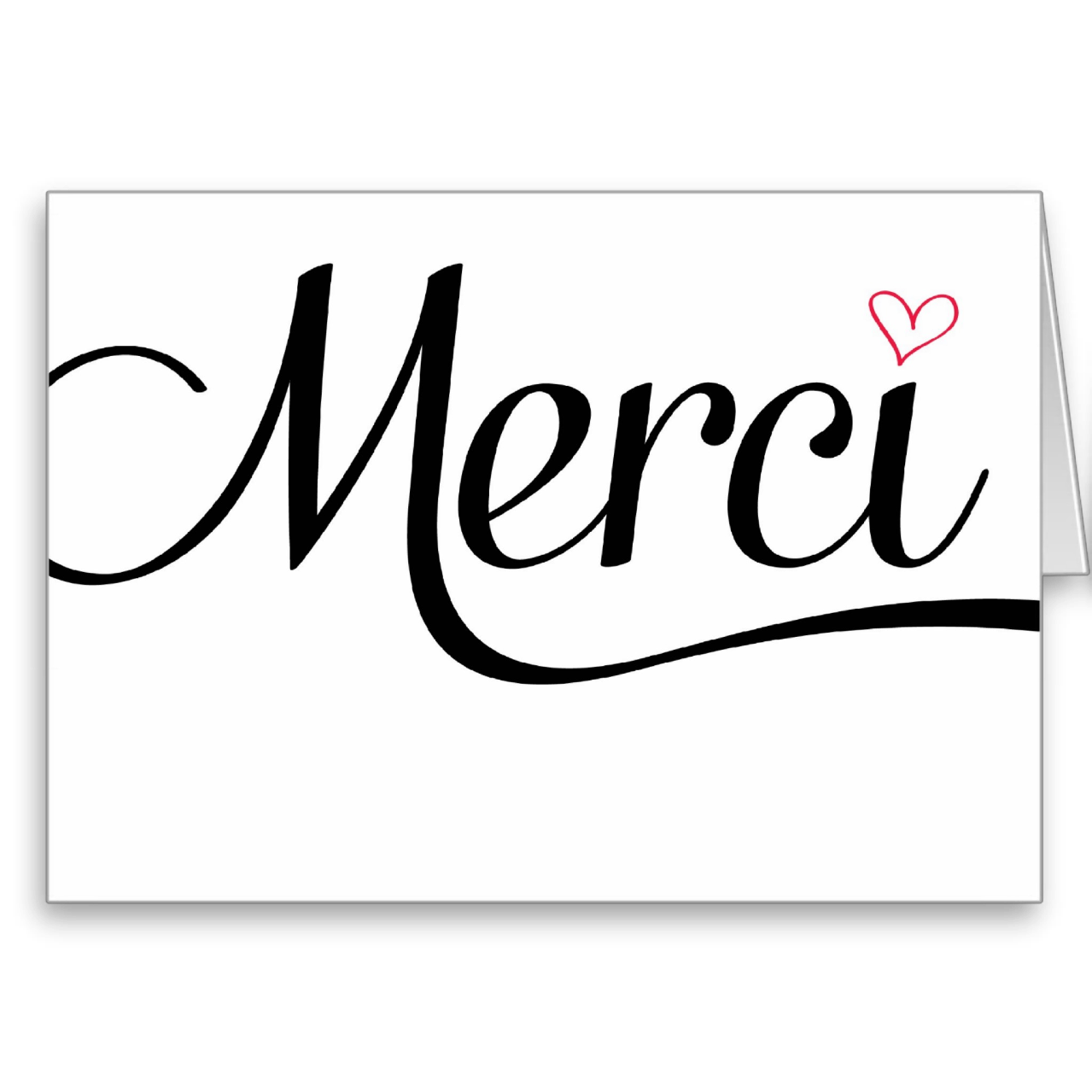 Merci thank you folded cards by Charming Ink