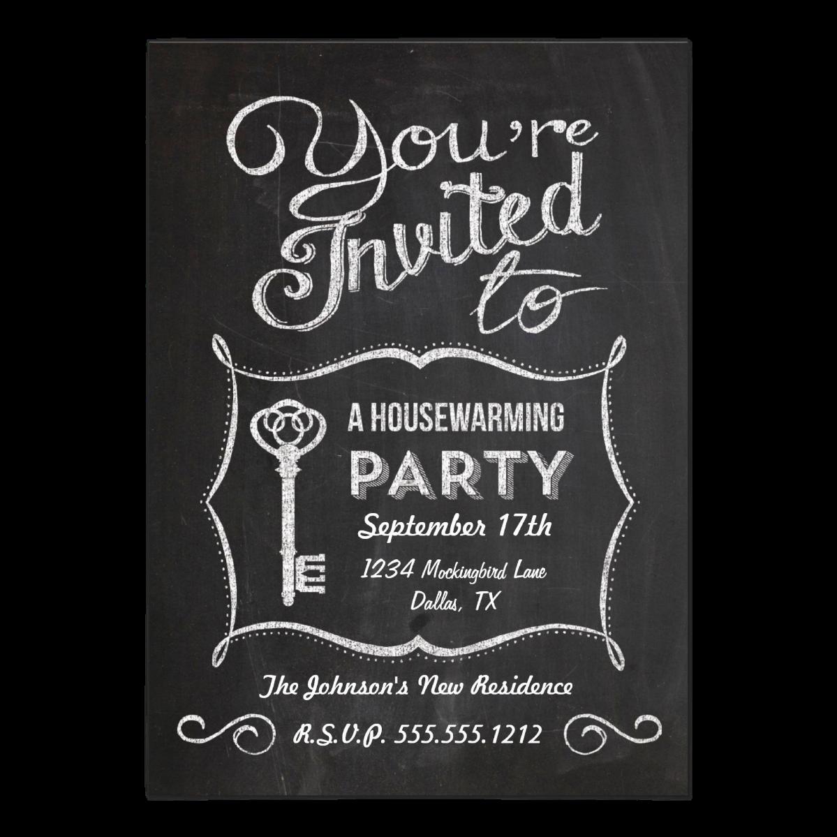 Chalkboard Housewarming    5 x 7 invitation