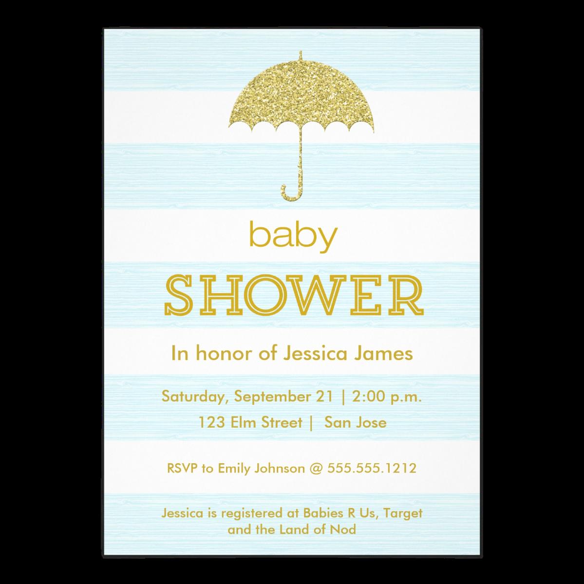 Glitter Umbrella Baby Shower   Also in  Pink