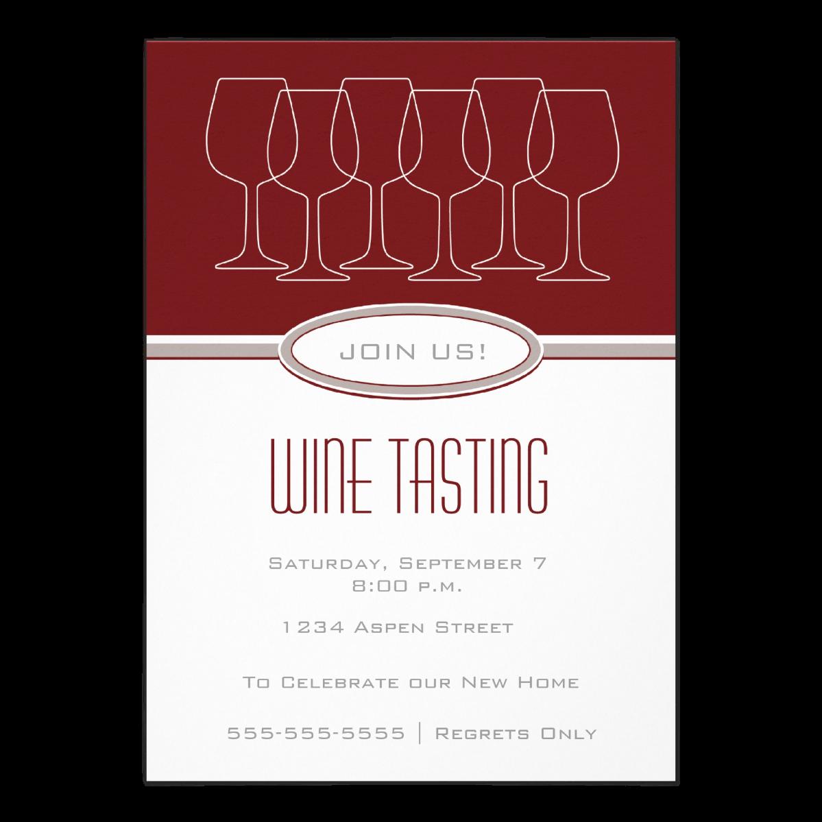 Wine Tasting   5 x 7 invitation