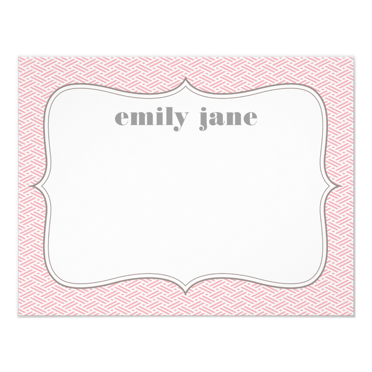 Fancy Frame Personalized   Also available in  Aqua