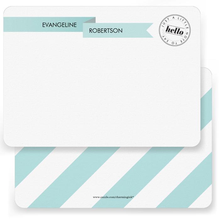 Pretty Ribbon Note Cards  5 x 7