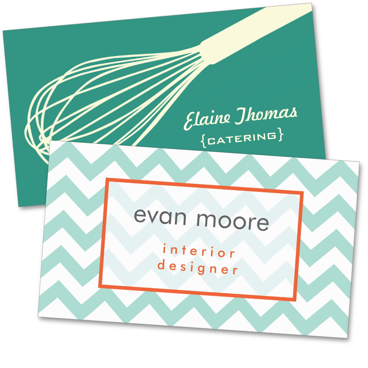Whisk Catering Card    Chevron Business Card
