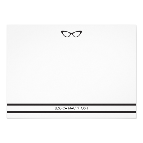 "Eyeglasses Note Cards  4.5"" x 6.25"""