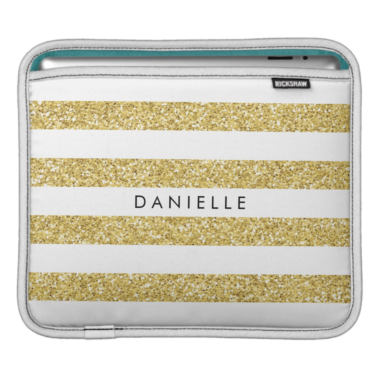 Personalized Faux Glitter iPad Sleeve