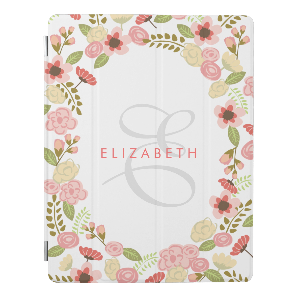 Monogram Botanical iPad Case