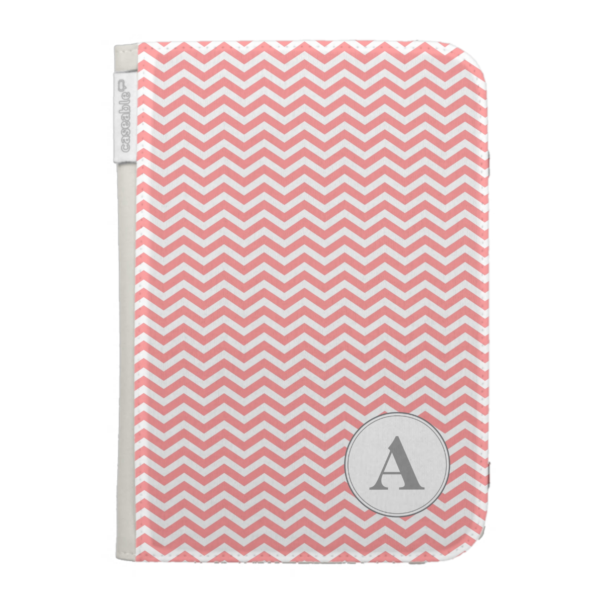 Monogram Chevron Kindle Case