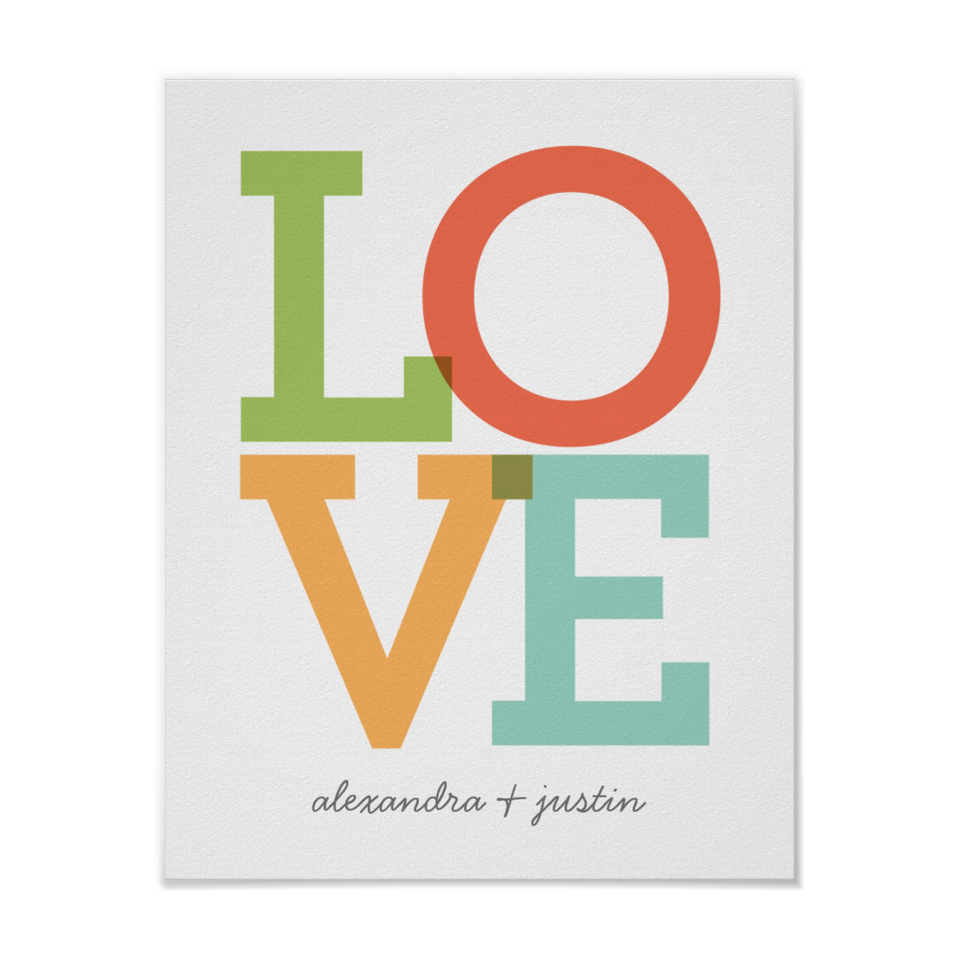 Personalized LOVE Poster  Customize names