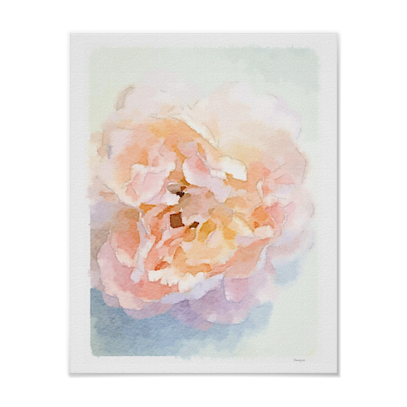 Watercolor Peonies Art Print