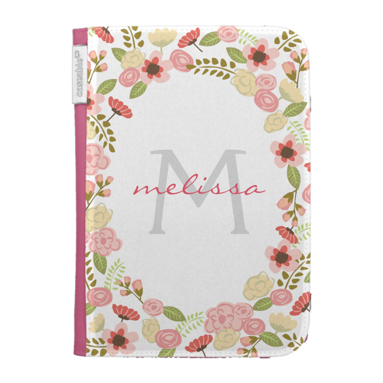 Botanical Monogram Fabric iPad Case