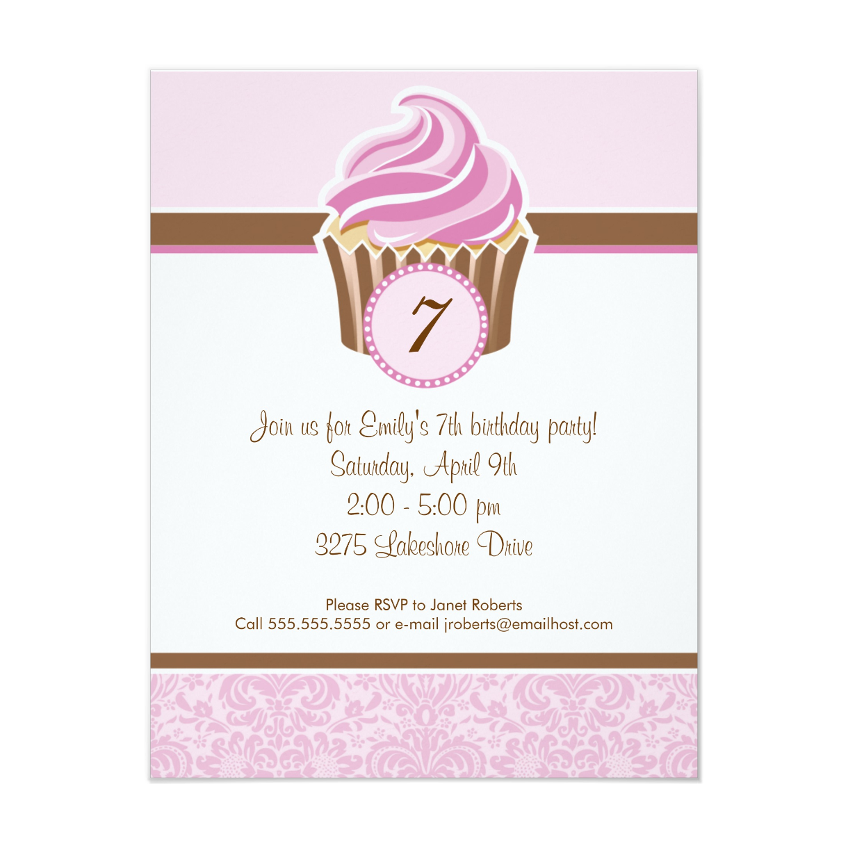 Cupcake Birthday Party   Customize with Age