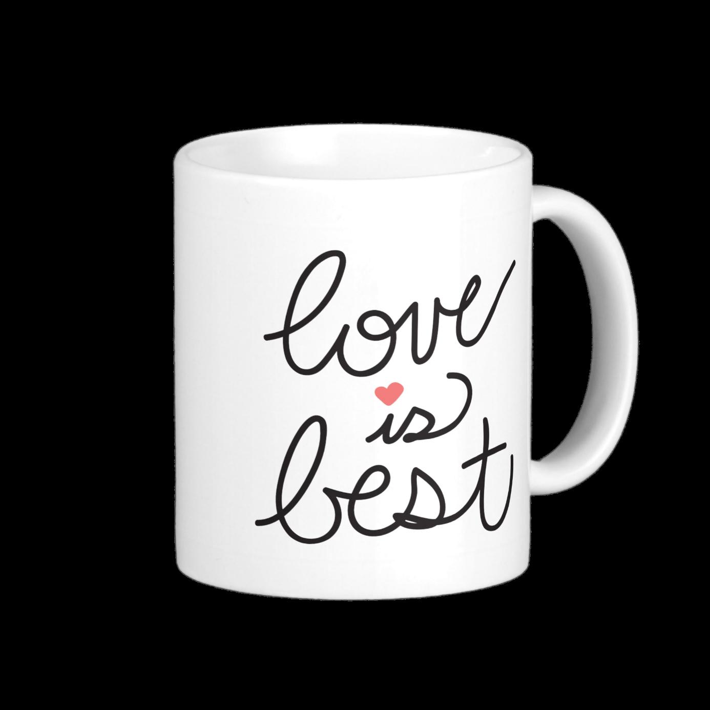 love is best coffee mug