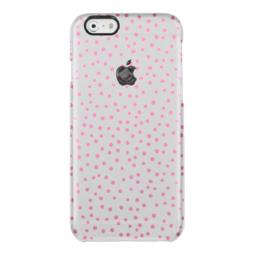 Pink Polka Dots Clear Case