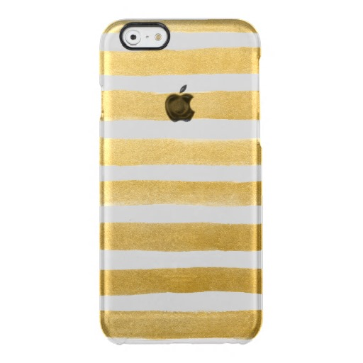 Faux Gold Stripes Clear Case