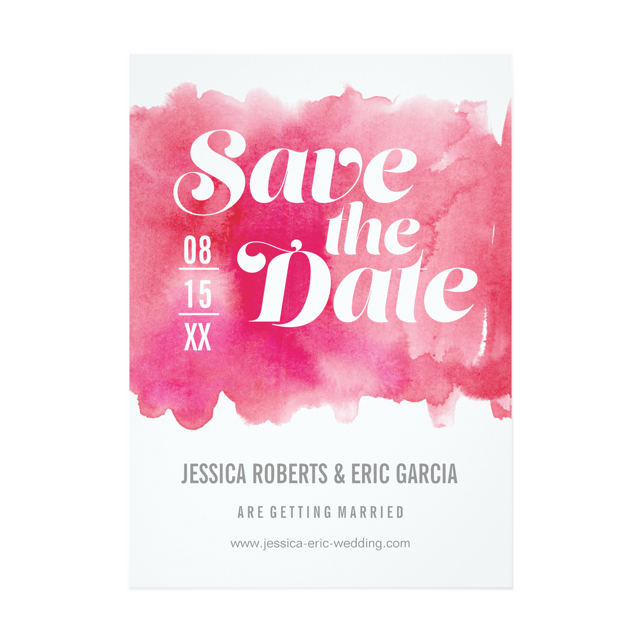 Hot Pink Watercolor Invitation