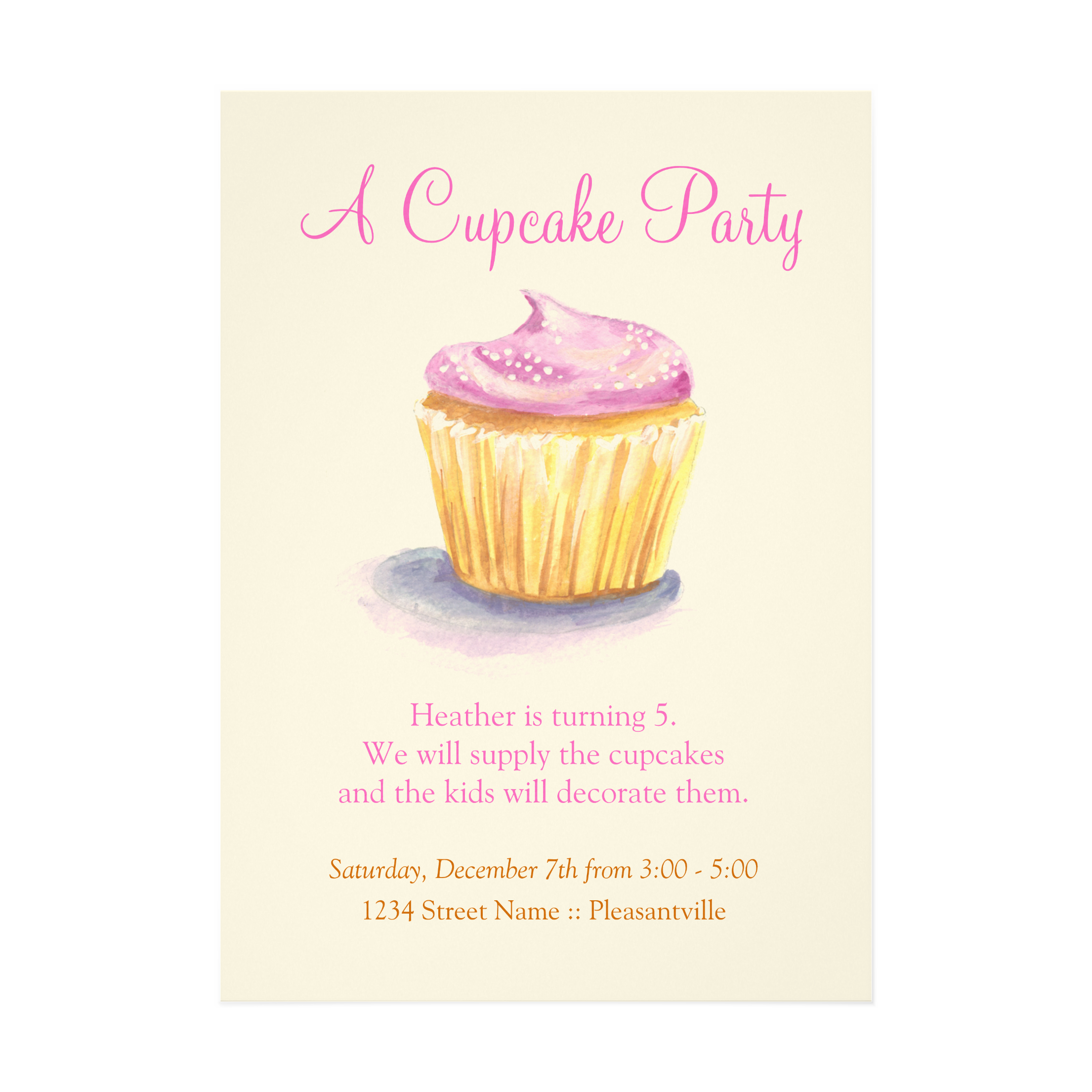 Cupcake Birthday Party