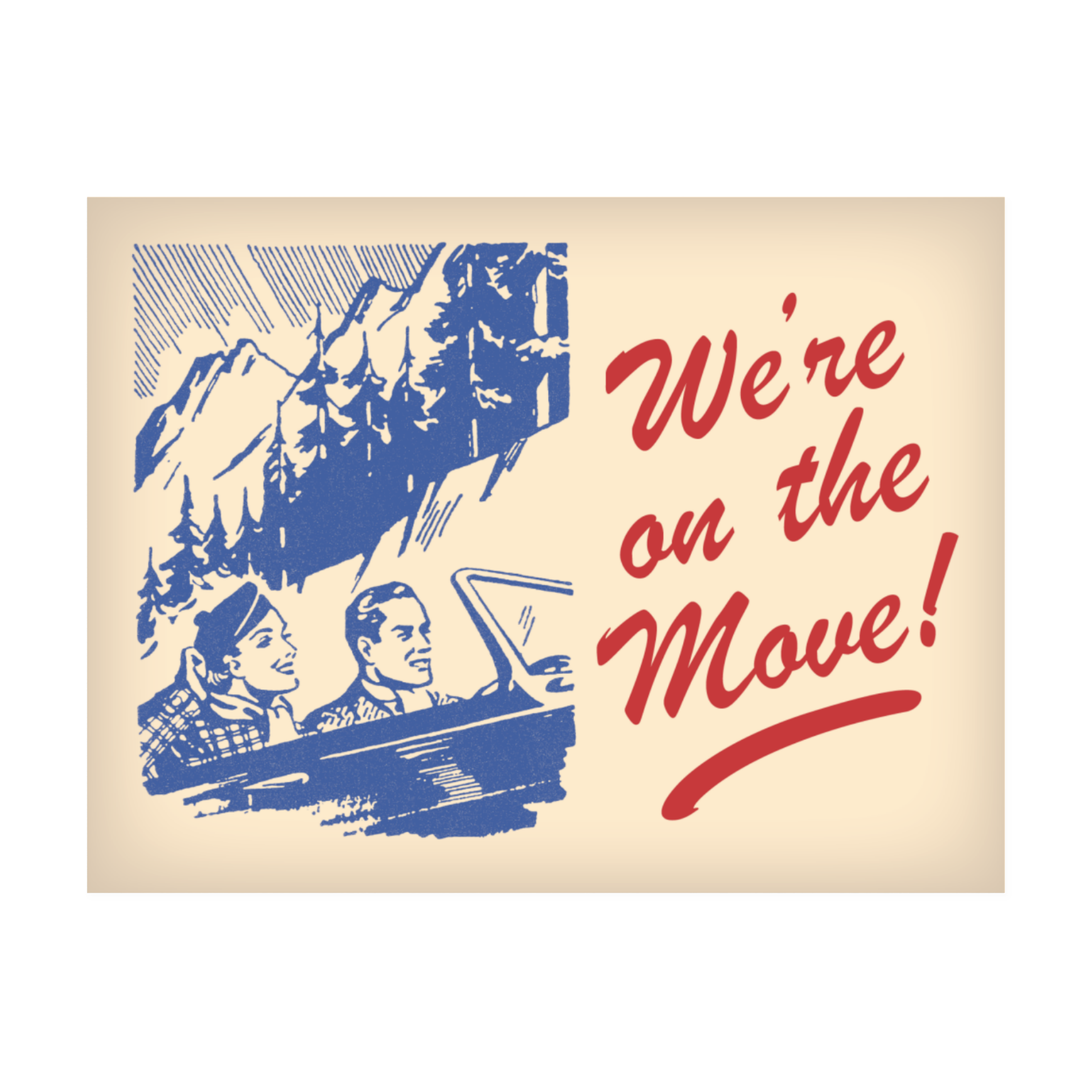 On the Move Postcards
