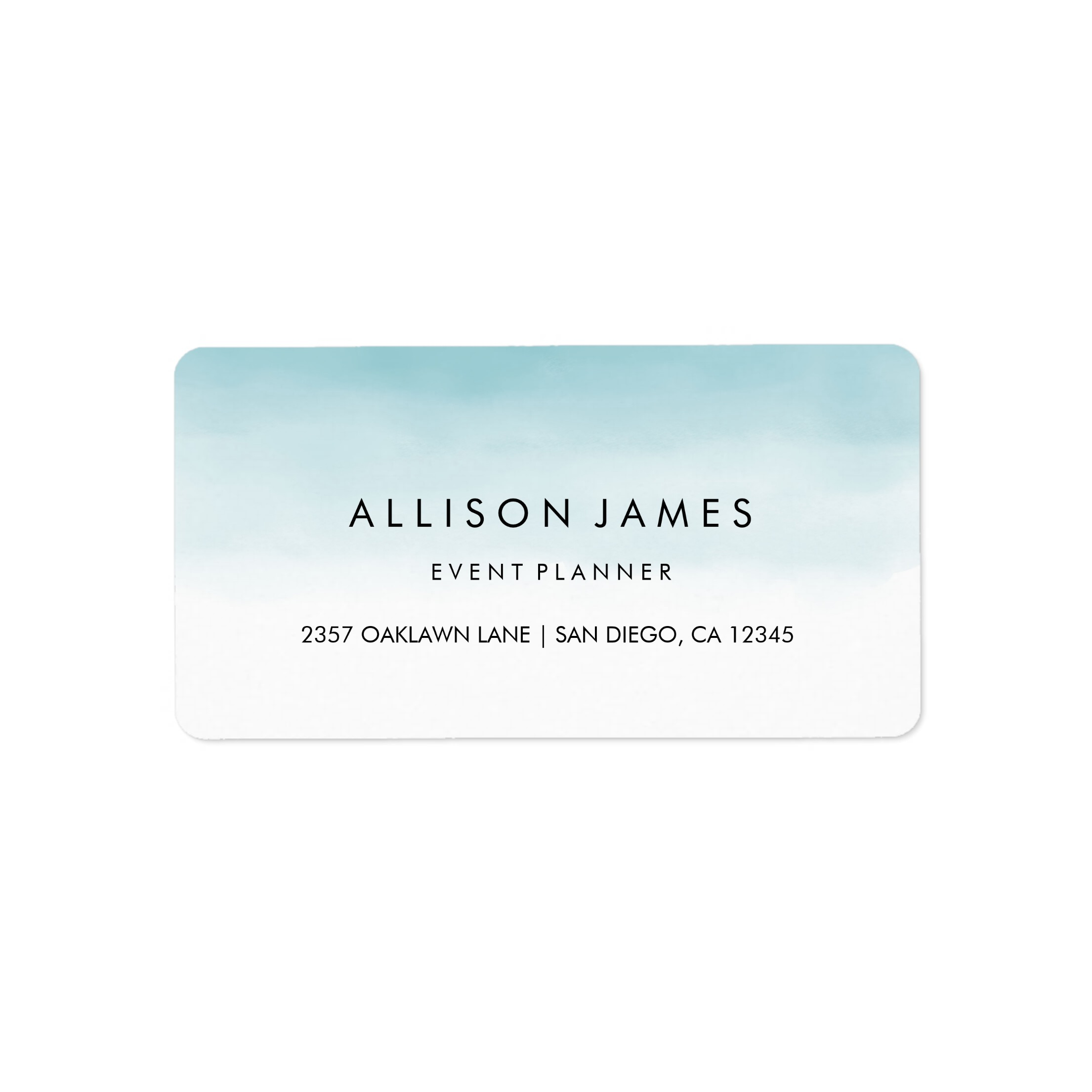 Blue Ombre Address Label