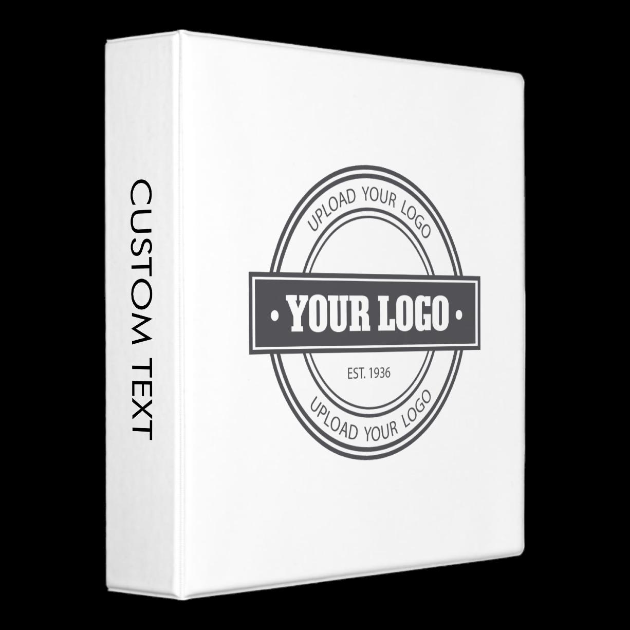 Upload your own logo binder