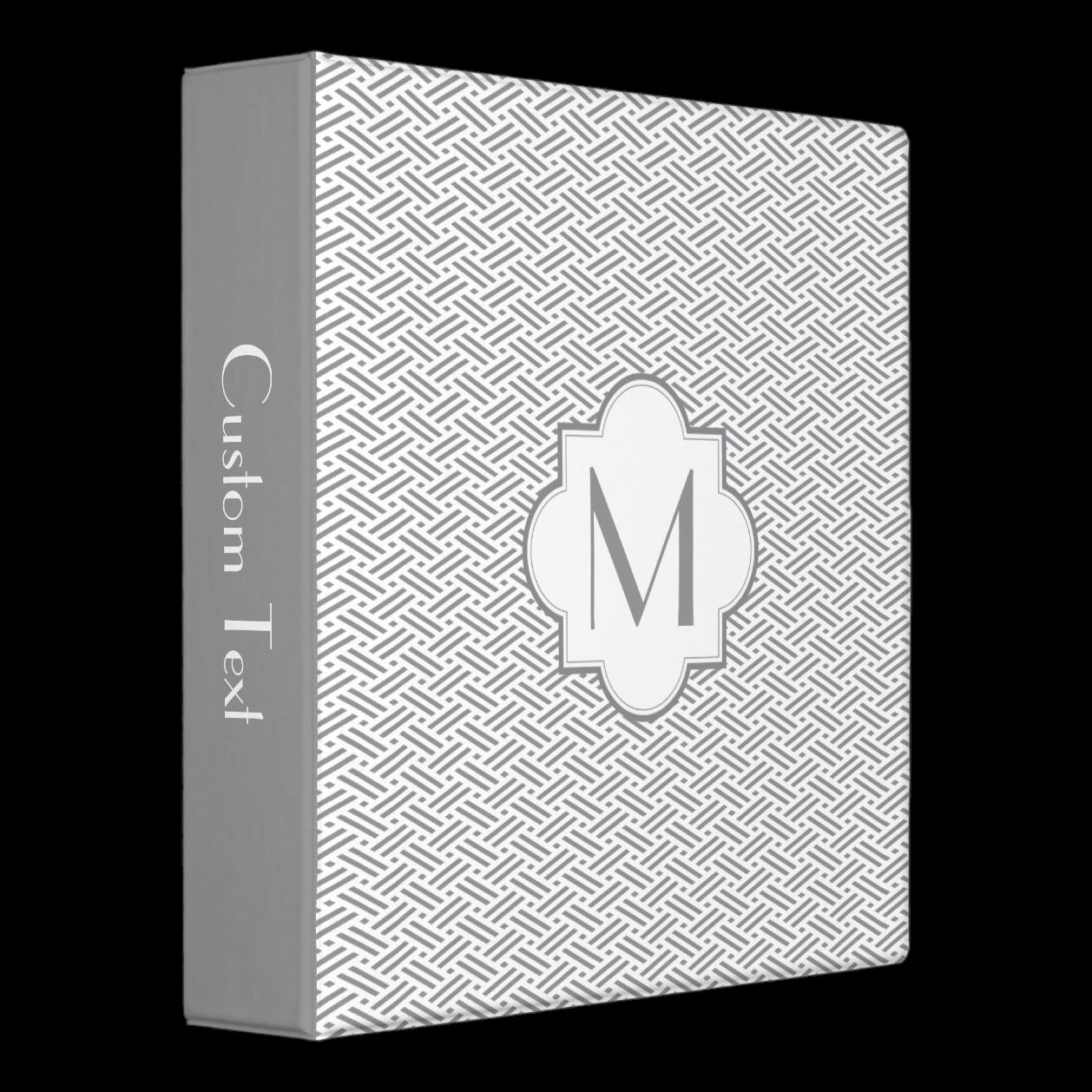 Gray Monogram Pattern